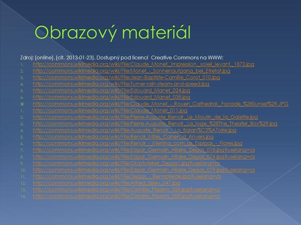 Obrazový materiál Zdroj: [online]. [cit. 2013-01-23]. Dostupný pod licencí Creative Commons na WWW: